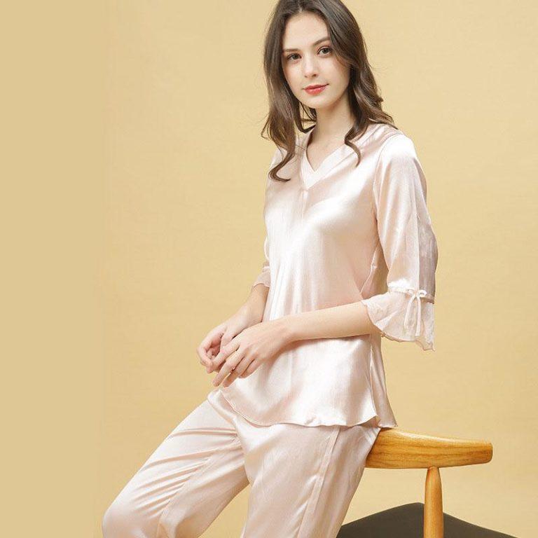 The Silk Pajamas | Early morning, Pyjama sets and Pyjamas